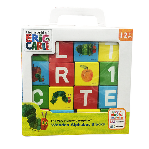 HUNGRY CATERPILLAR | wooden learning blocks infant toddler