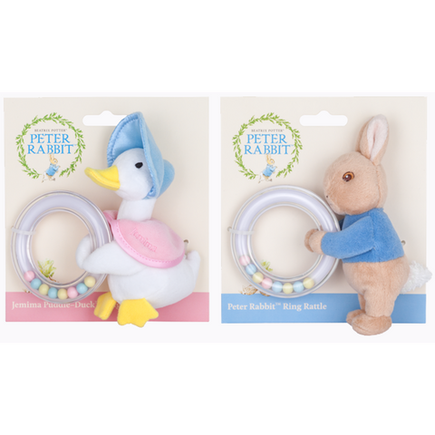 pair of rattle rings | Peter Rabbit & Jemima Puddle-Duck
