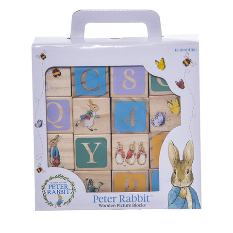 PETER RABBIT | stackable wooden blocks numbers and alphabets