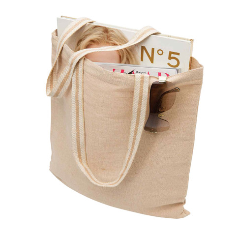 bulk buy plain eco jute tote bags | natural