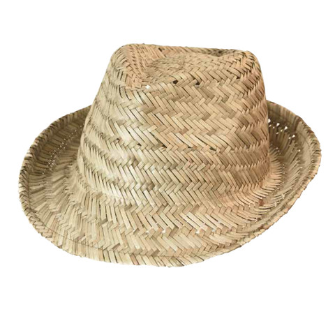 bulk buy plain straw fedora hat | wholesale