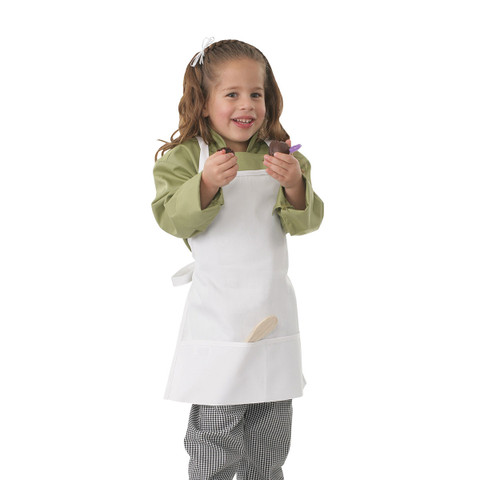 Buy plain kids white full apron online
