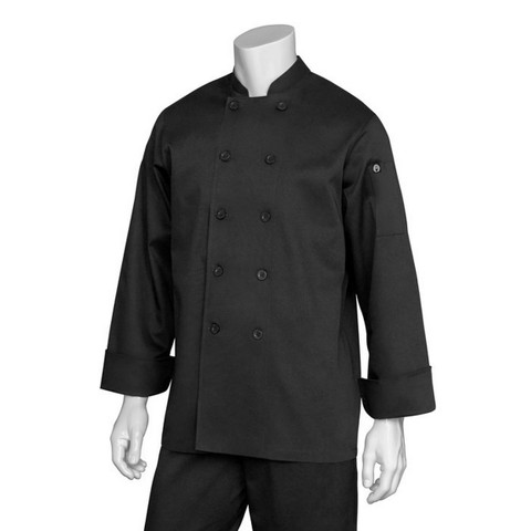 buy online plain black chef jackets