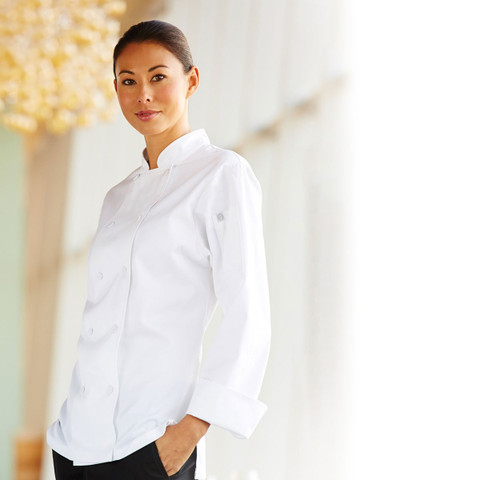 buy womens executive chef jacket | plain white
