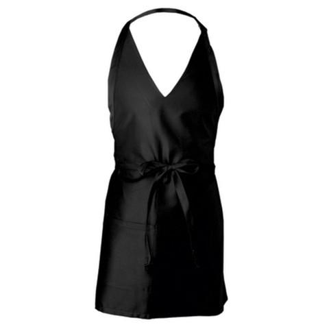 plain black v-neck apron hospitality online