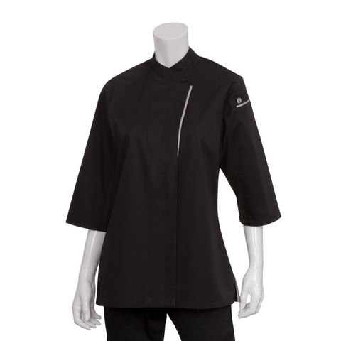 Buy Online Ladies Premium Chef Coat 3/4 Sleeves - Black
