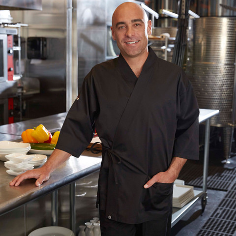 Chef Works black sushi chef jacket online