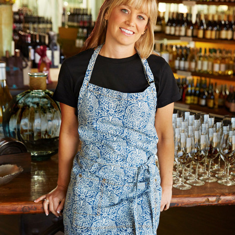 full bib floral denim cotton apron online