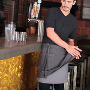 SOHO plain urban double layer half apron