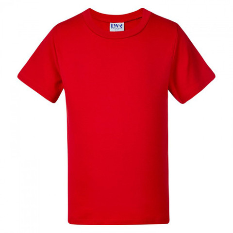 bulk wholesale baby & toddler plain t-shirts | red