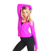 wholesale ladies nylon / spandex jacket | slim fit