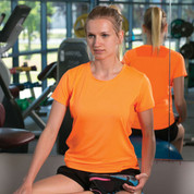 Fluoro Cool Dry Ladies Plain Sports Tshirts