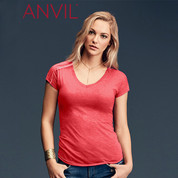 ladies tri-blend v neck tshirt | tearAway label
