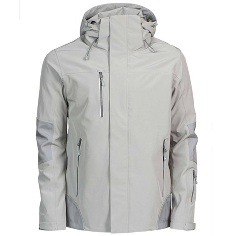 James Harvest Mens Waterproof Shell Jacket - Grey