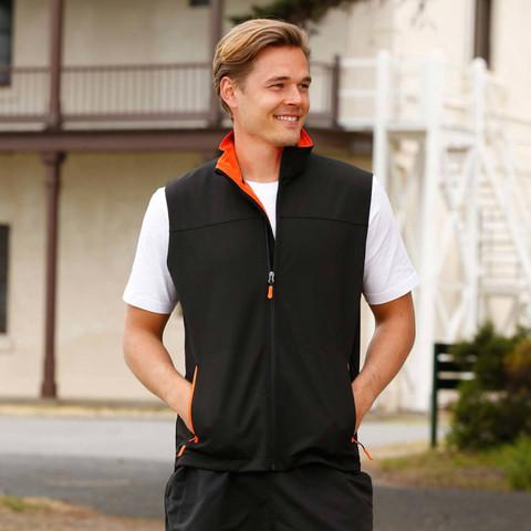 Wholesale Mens Contrast Soft Shell Vest