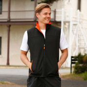 Wholesale Mens Contrast Soft Shell Vest
