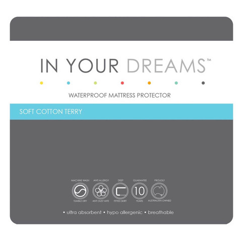 In Your Dreams Cotton Waterproof Single Mattress Protector Online