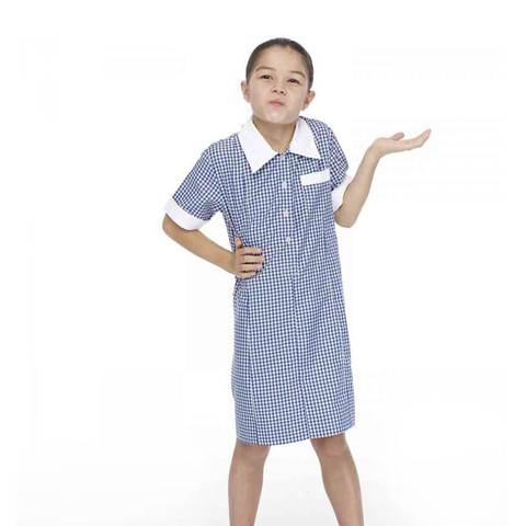 Girls School Dress with Zip Pocket