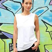wholesale womens sleeveless tee online