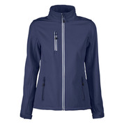 Wholesale Ladies Contrast Plain Softshell Jacket - Navy