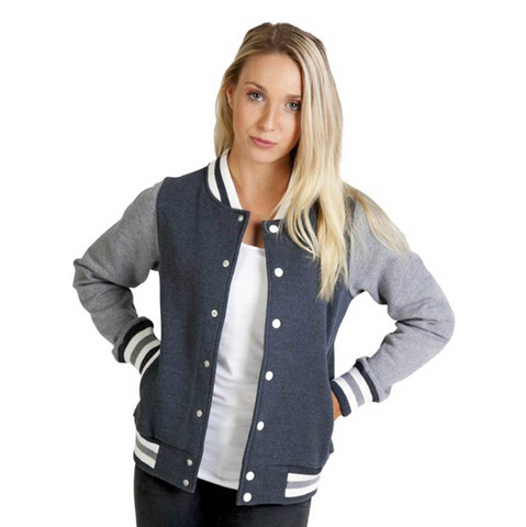 Plain Ladies & Kids Varsity Jacket