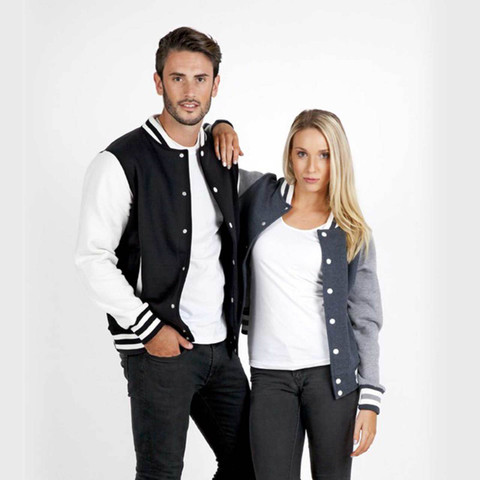 Plain Unisex Varsity Jacket Online