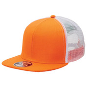 Bulk Discount  Snap Back Trucker Cap - Orange + White