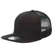 Wholesale Snapback Trucker Hats - Plain Black