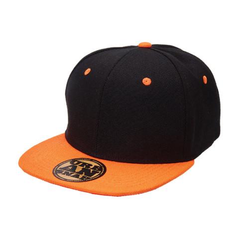 youth urban snap back cap black+orange