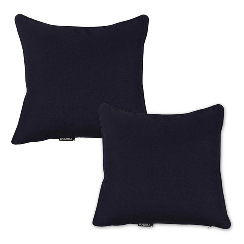 Sunbrella Plain Outdoor Throw Cushion | Set of 2