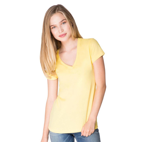 Womens Poly Jersey V Neck Tshirt