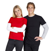 Wholesale blank unisex t-shirts long sleeves | layer-look