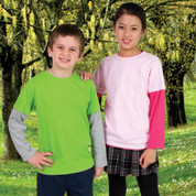 Plain Childrens Layer Long Sleeve T-shirts Online