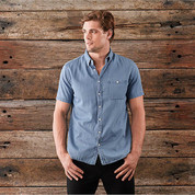 Wholesale Mens Short Sleeves Vintage Denim Shirt