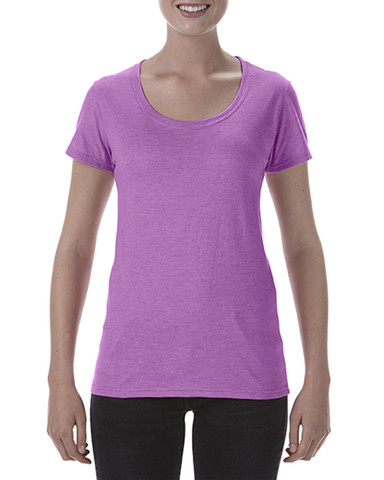 Ladies Deep Scoop T-Shirt | Heather Radiant Orchid