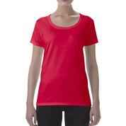 Wholesale Plain Deep Scoop T-shirts Online | Red