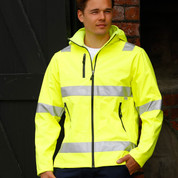 Hi-Vis Heavy Duty Softshell Jacket with Reflective Tapes