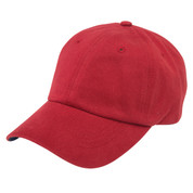 Plain Brushed Cotton Chino Caps | Antique Cherry Red +Navy