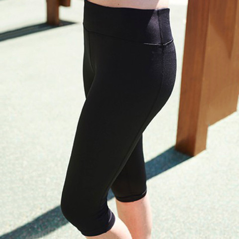 Thick High Waisted 3/4 Length Gym Tights