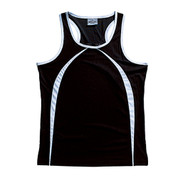 contrast athletic singlet | black + white