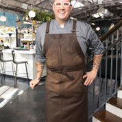 GALVESTON | Cross-Back Chef's Bib Apron | Chocolate