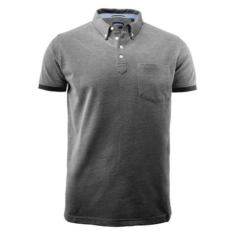 Bulk Buy Mens Modern Polo Shirt | Black Melange