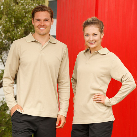 Buy Online TrueDry Long Sleeve Polo Shirts