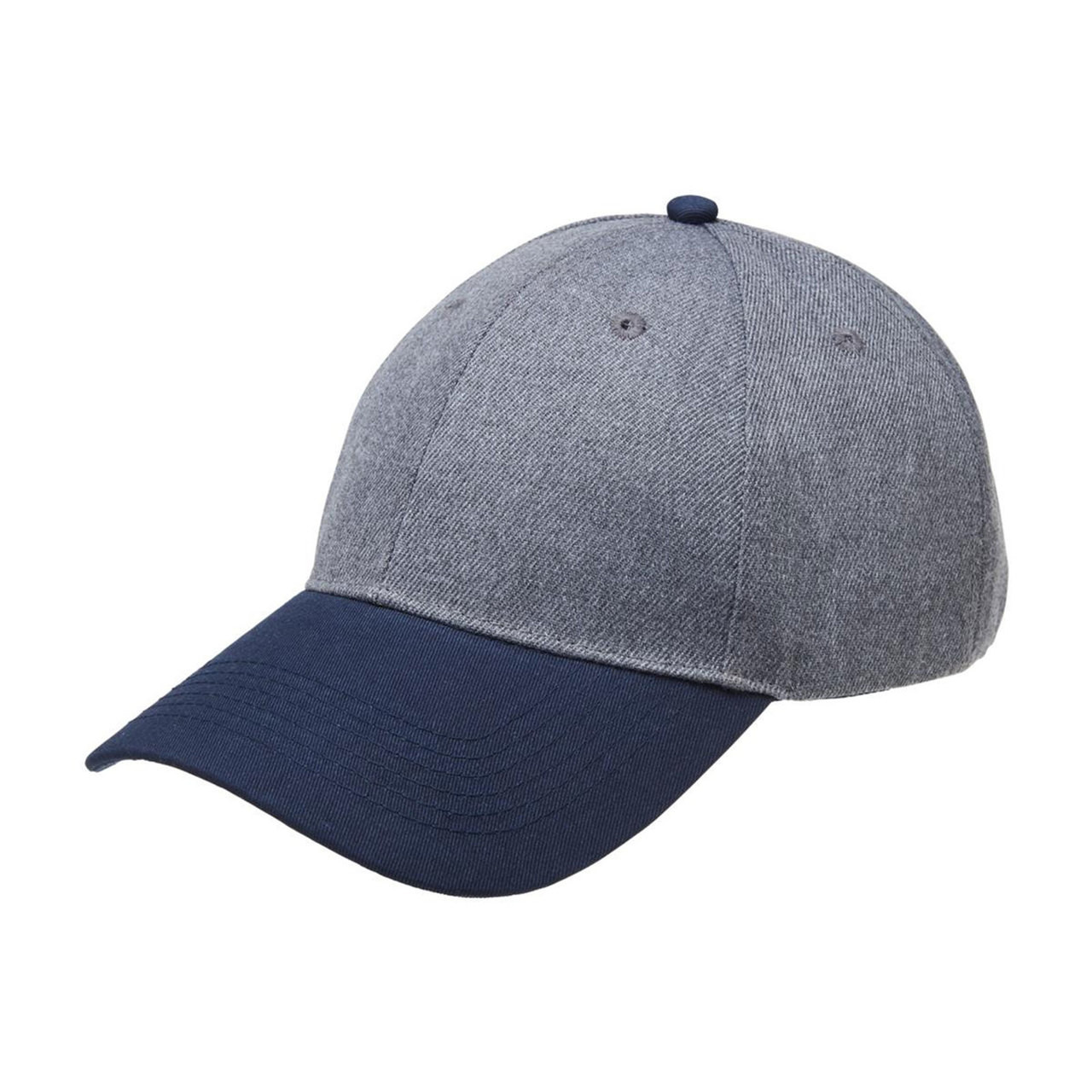Wholesale Heathered Two Tone Curved Baseball Caps  05a72b9ca28