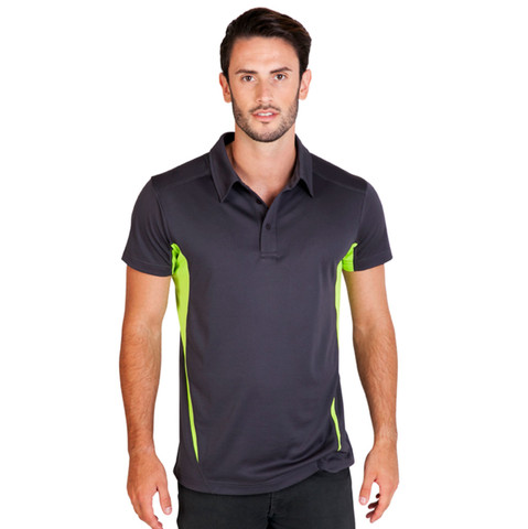 Wholesale Mens Cool Dry Contrast Polo Shirts