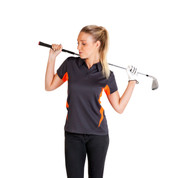Wholesale Ladies Cool Dry Contrast Polo Shirts
