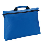 Plain Polyester Zipped Satchel | Royal Blue