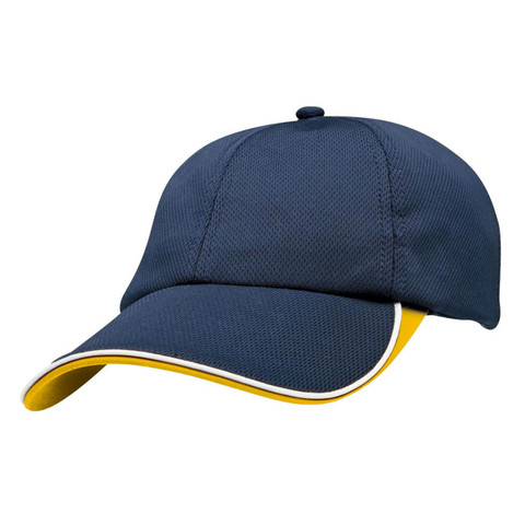 Quick Dry Sport Baseball Cap  | Navy+Gold