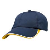 Quick Dry Sport Baseball Cap  | Navy+Gold