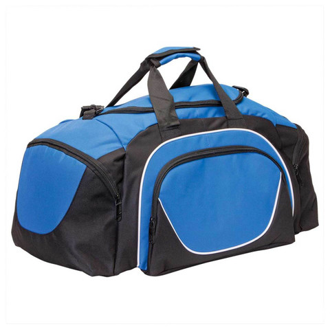 Contrast Sports Gym Bag | Black+Royal